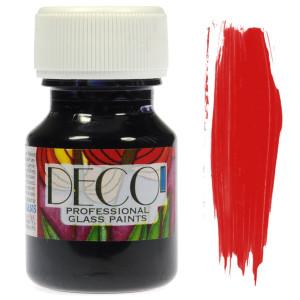 Farba do szkła witrażowa Renesans DECO 30 ml - czerwona