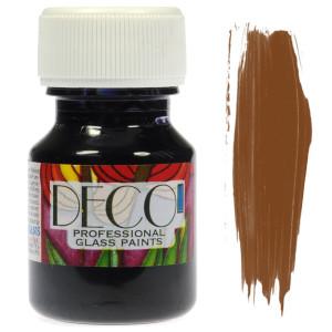 Farba do szkła witrażowa Renesans DECO 30 ml - brązowa jasna
