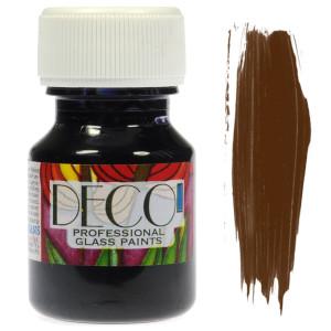 Farba do szkła witrażowa Renesans DECO 30 ml - brązowa ciemna