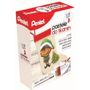 Zestaw pasteli do ozdabiania tkanin z torbą - Pentel - 15 kol.