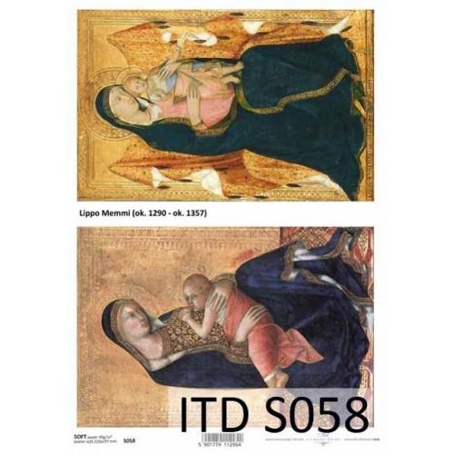 Papier decoupage soft ITD S058