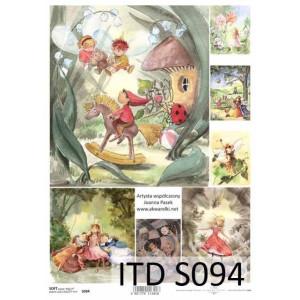 Papier decoupage soft ITD S094