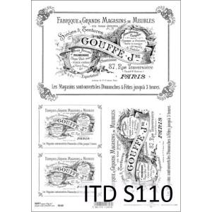 Papier decoupage soft ITD S110