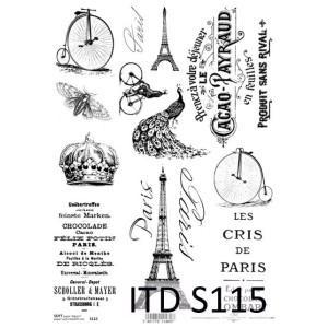 Papier decoupage soft ITD S115