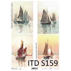 Papier decoupage soft ITD S159