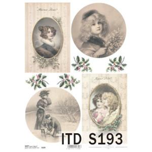 Papier decoupage soft ITD S193