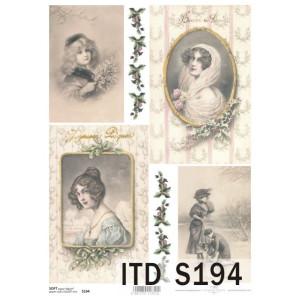 Papier decoupage soft ITD S194