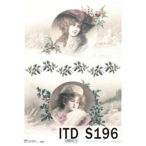 Papier decoupage soft ITD S196