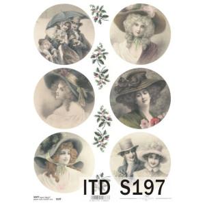 Papier decoupage soft ITD S197