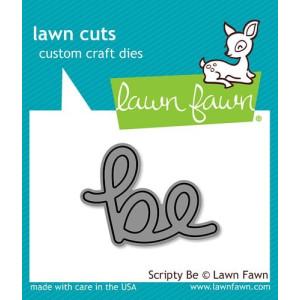 Wykrojniki - Scripty Be - Lawn Fawn