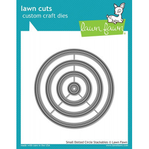 Lawn Fawn Small Dotted Circle Stackables Dies