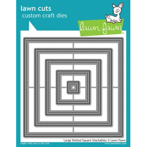 Wykrojniki - Small Dotted Square Stackables - Lawn Fawn