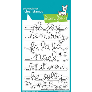 Lawn Fawn Clear Stamps - Winter Big Scripty Words
