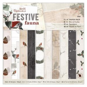 Zestaw papierów 15 x 15 Papermania - Festive Fauna 32 ark.