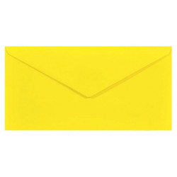 Koperta Sirio Color 115g - DL, Limone, żółta