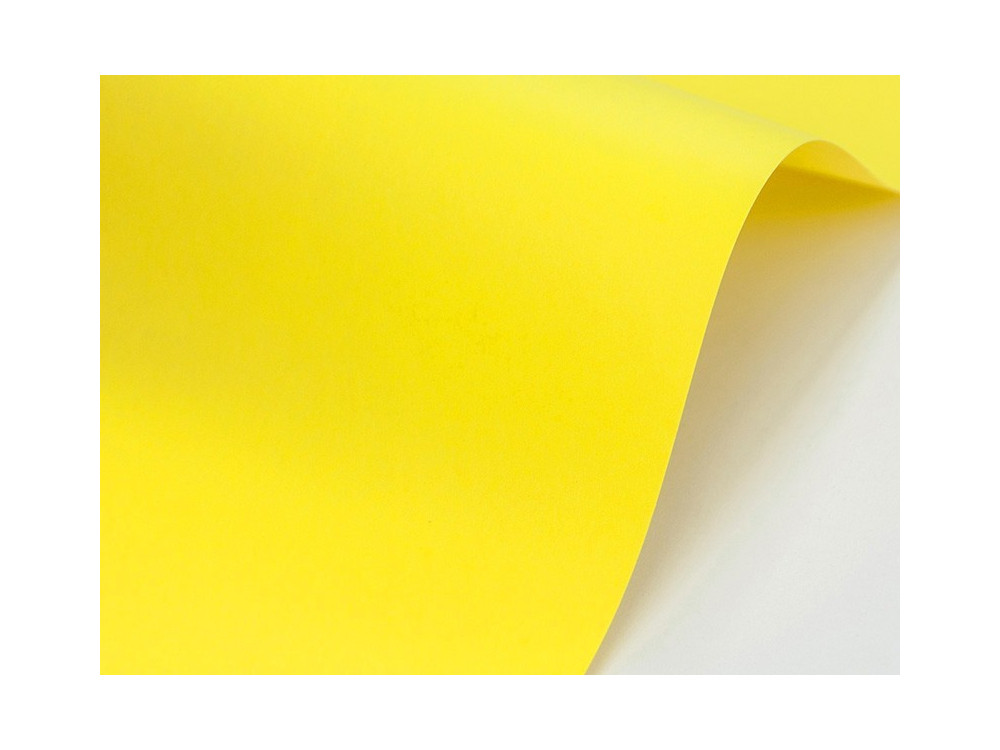 Sirio Color Paper 210g - Limone, yellow, A4, 20 sheets