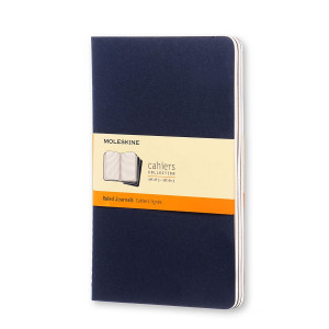 Zestaw notesów Cahier Moleskine Ruled Granat