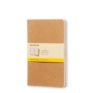 Set of 3 Plain Cahier Journals - Hawana - Pocket - Moleskine