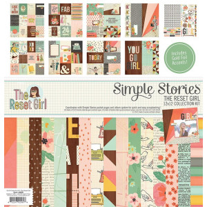 Zestaw naklejek Combo 30 x 30 cm - The Reset Girl Collection - Simple Stories