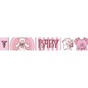 Taśma ozdobna samoprzylepna Stamperia 2cm x 10m - Baby pink