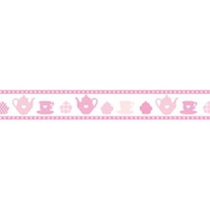 Taśma ozdobna samoprzylepna Stamperia 2cm x 10m - Filiżanka różowa