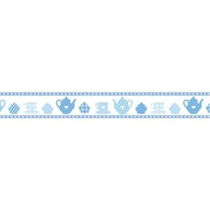 Taśma ozdobna samoprzylepna Stamperia 2cm x 10m - Filiżanka niebieska