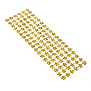 Dżety kwiaty samoprzylepne 12 mm 114 szt. złote