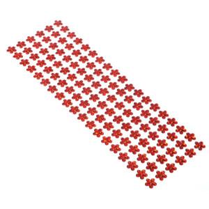 Dżety kwiaty samoprzylepne 12 mm 114 szt. czerwone