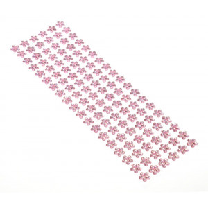 Dżety kwiaty samoprzylepne 12 mm 114 szt. różowe