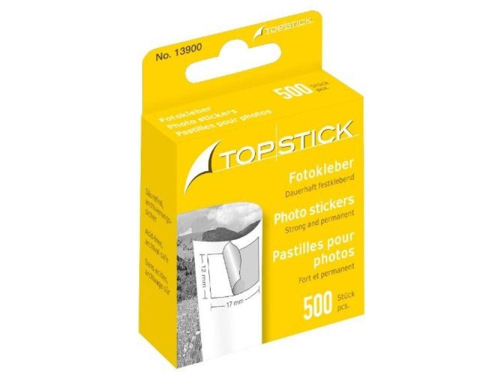 Podklejki do zdjęć Top Stick - 12 x 17 mm, 500 szt.