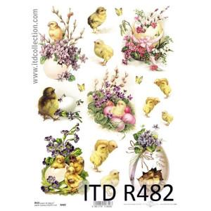 Papier ryżowy decoupage ITD R481