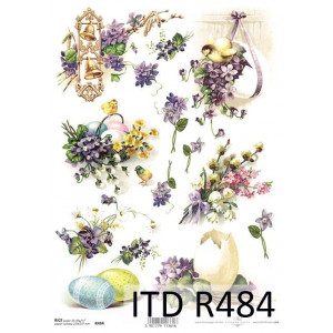 Papier ryżowy decoupage ITD R483