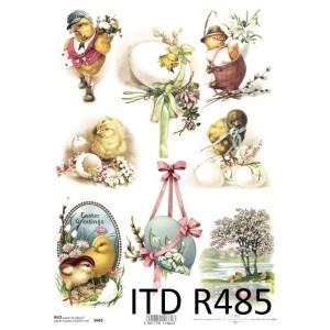 Papier ryżowy decoupage ITD R484
