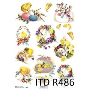 Papier ryżowy decoupage ITD R485