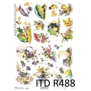 Papier ryżowy decoupage ITD R487