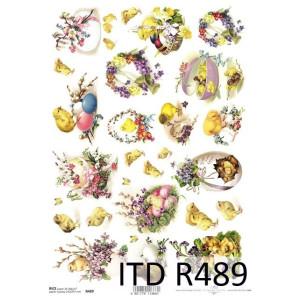 Papier ryżowy decoupage ITD R489