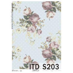 Papier decoupage soft ITD S102