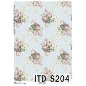 Papier decoupage soft ITD S203