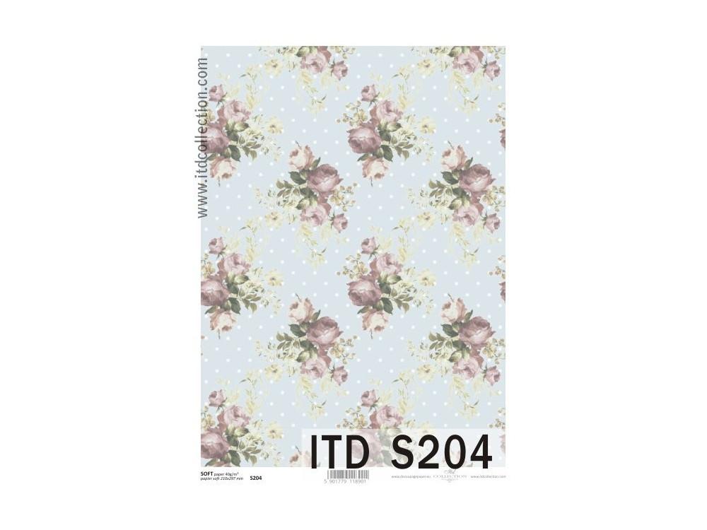 Papier decoupage soft ITD S204