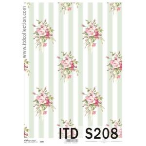 Papier decoupage soft ITD S207