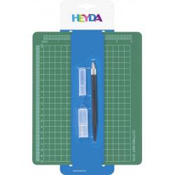Zestaw do cięcia skalpel + podkładka - Heyda