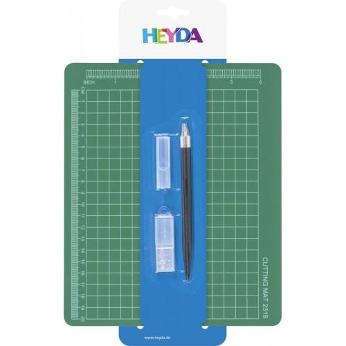 Heyda Craft Knife + Cutting Mat