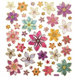 Naklejki - Kwiaty, 46 szt.