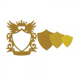 Zestaw wykrojników Framelits - Sizzix - Frame, shield, 3 szt.