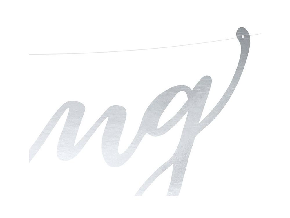 Banner Wedding - silver, 16,5 x 45 cm