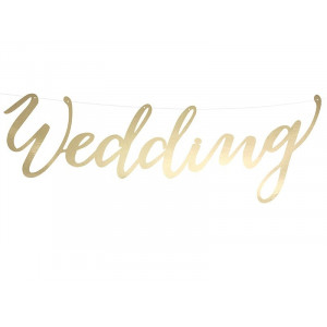 Baner Wedding srebrny, 16,5 x 45 cm 1 szt.