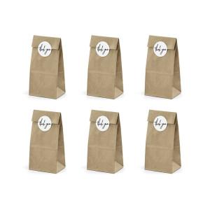 Papierowe torebki na słodycze, białe 6 szt.