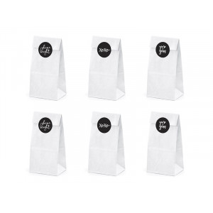 Papierowe torebki na słodycze, kraft 6 szt.