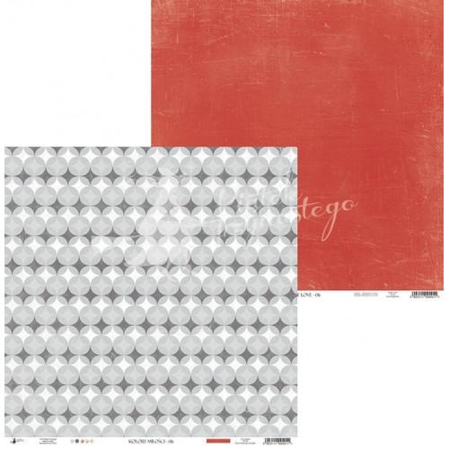 Papier 30 x 30 cm - Piątek Trzynastego - Kolory miłości 06