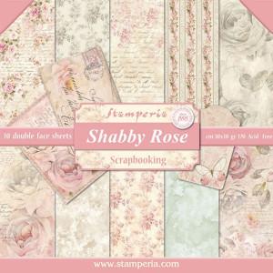 Papier Stamperia - Róże / różowe shabby